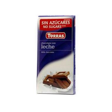 Chocolate con Leche sin Azúcar  Torras 75g