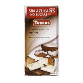 Chocolate Blanco con Coco Torras 75 g