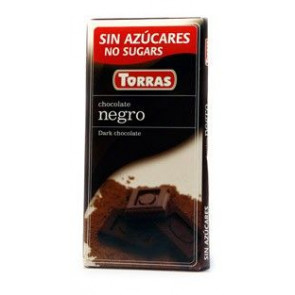 Chocolate Negro Sin Azúcar Torras 75 g