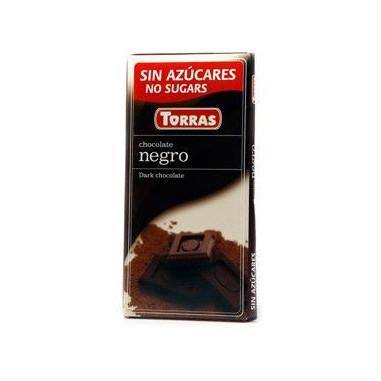 Chocolate Negro sin Azúcar Torras 75g