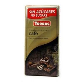 Chocolate Preto com Café Sugar Free Torras 75g