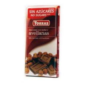 Milk Chocolate with Hazelnuts Sugar Free Torras 75 g