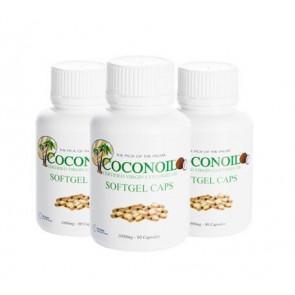 Pack 3 x 2 Cápsulas de Aceite de Coco Virgen Coconoil 1000 mg