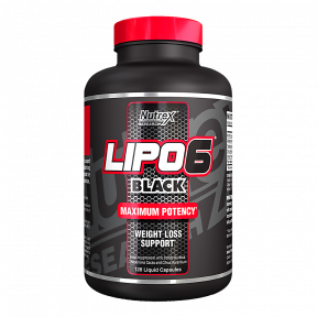 Lipo 6 Black Weight Loss Support 120 capsules