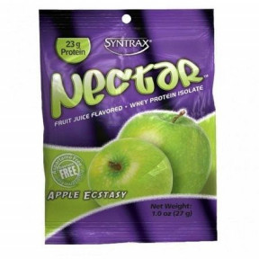 Syntrax Nectar Grab N'Go Whey Protein Isolate Sabor Manzana 27 g