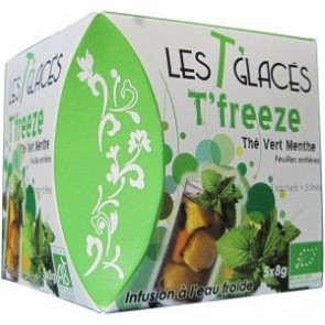 Té helado T'Freeze Té verde + Menta 40 g 5 bolsas