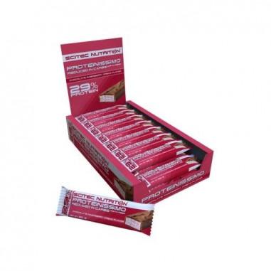 Barra reduzida em hidratos Scitec Nutrition Proteinissimo framboesa com chocolate
