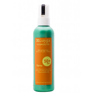 Fotoprotector SPF 50+ Alta Protección Gayga con Aloe Vera 200ml