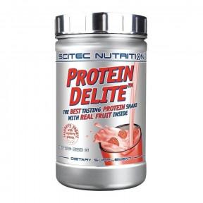Protein Delite shake de proteína de iogurte de framboesa com tropeços Scitec Nutrition