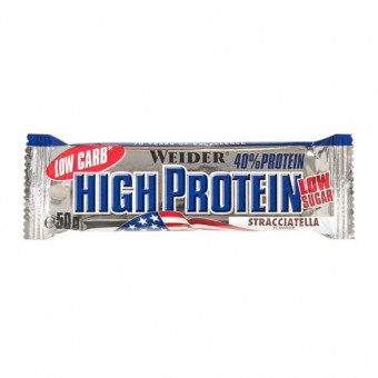 40% Low Carb High Protein Bar Weider Stracciatella 50 g