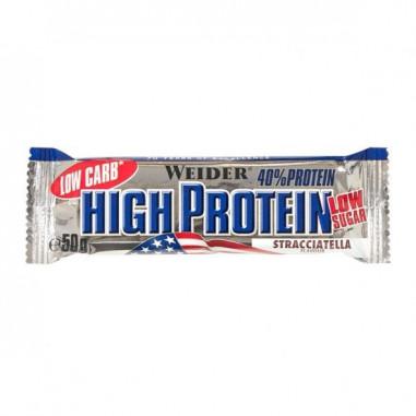 40% Low Carb High Protein Bar Weider Stracciatella 50 g