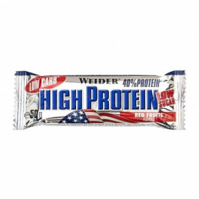 40% Low Carb High Protein Bar Weider Frutos Rojos 50 g