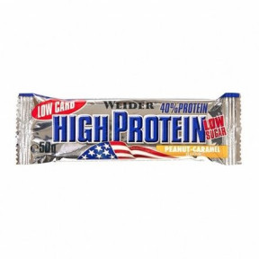 40% Low Carb High Protein Bar Weider Amendoim-Caramelo 50 g