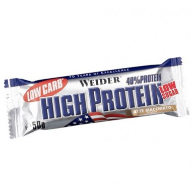40% Low Carb High Protein Bar Weider Latte Macchiato 100 g