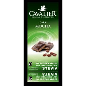 Chocolate preto com estévia e recheio de mocha 85 g Cavalier
