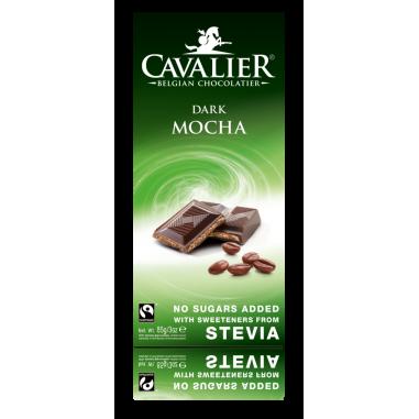 Chocolate Belga Negro con relleno de Moca 85 g Cavalier