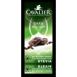 Chocolate Negro Belga con Estevia Cavalier 85 g