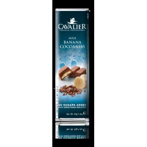Barrita de chocolate con leche Cavalier Plátano y Cacao 40 g