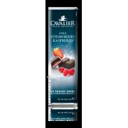 Barra de chocolate preto Cavalier com morango e framboesas 40 g