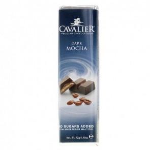 Barrita de chocolate negro Cavalier con moca 40 g