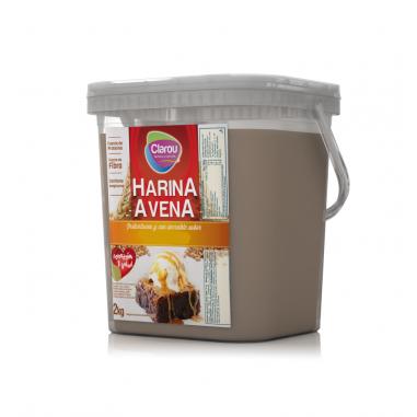 Farinha de Aveia Sabor Bolo de Chocolate com Biscoito Clarou 2 kg