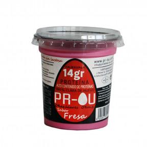 Flan de clara de huevo PR-OU Fresa 120g