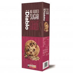 Cookies com gotas de chocolate e arándanos agrios sem adição de açúcar :Diablo 135g