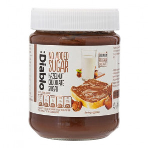 Chocolate and hazelnuts cream no added sugar :Diablo 350 g