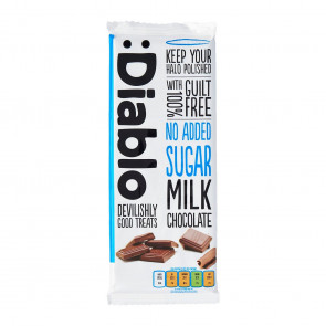 Milk chocolate bar no added sugar :Diablo 85 g