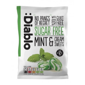 Mint & cream sweets sugar free :Diablo 75 g