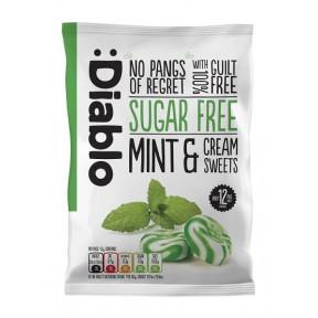 Caramelos sabor menta y crema sin azúcar :Diablo 75 g