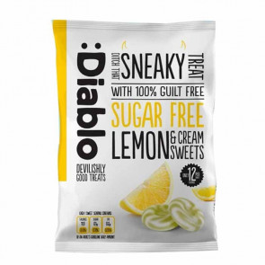 Lemon & cream sweets sugar free :Diablo 75 g