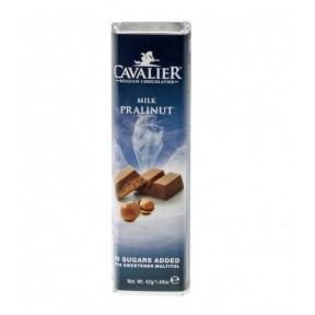 Barrita de chocolate con leche Cavalier praliné y avellanas 42 g