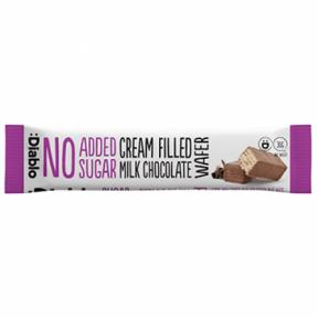 Barquillo de chocolate con leche relleno sin azúcares añadidos :Diablo 30 g
