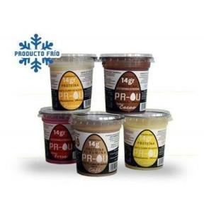 Pack de vaso de clara de ovo PR-OU CLARBOU y CHIACAKE 14 x 120g