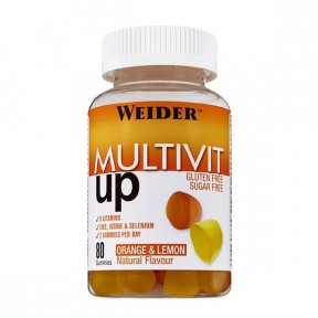 Multivit Up Multivitamínico Multimineral de Weider 80 gominolas