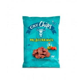 Chips de bovino desidratados CruChips 40g Mediterrâneo
