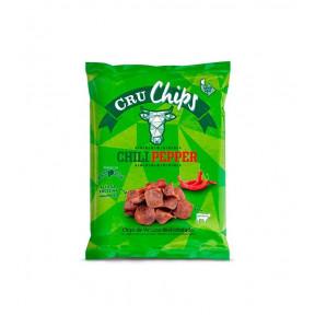 Chips de Vacuno Deshidratado CruChips Chili Peper 40g