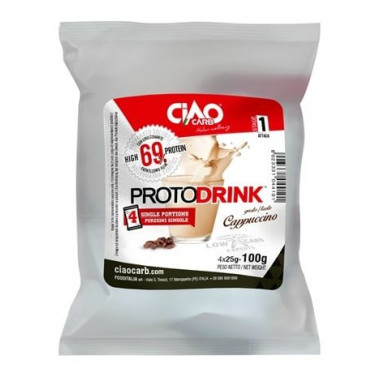 Protodrink Gusto Cappuccino CiaoCarb Fase 1,100 g (4x25 g)