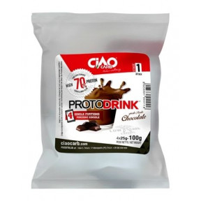 Protodrink Gusto Chocolate CiaoCarb Fase 1, 100 g (4x25 g)