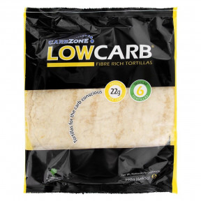 Tortillas Ricas en Fibra y Proteínas LowCarb Tamaño Grande CarbZone 390 g