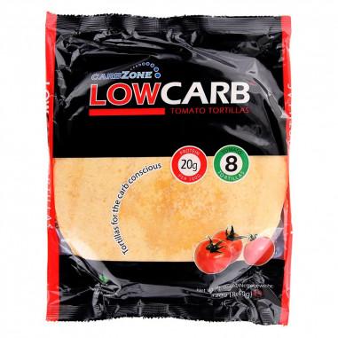Tortillas Sabor de Tomate Rico em Fibras e Proteínas LowCarb Tamanho Pequeno 320 g - CarbZone