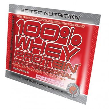 100% Whey Professional Scitec Nutrition Chocolate con Coco Monodosis 30 g