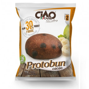 Bollo de Pan CiaoCarb Protobun Fase 2 Cacao 1 unidad 40 g