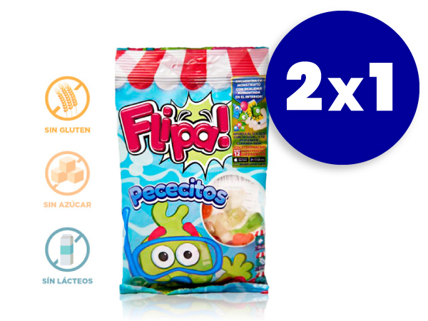 2x1 Gominolas sin azúcar Flipa