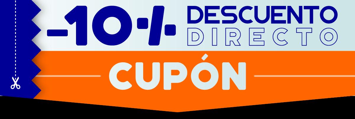 Usa el cupón en el momento de la compra para descontarte el 10 por ciento del total del importe de tu pedido