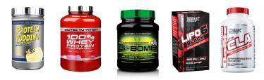 Proteínas y suplementos Scitec Nutrition y Nutrex con descuento del 15 por ciento en este black friday