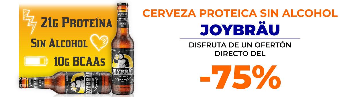 Llévate la cerveza proteica sin alcohol Joybräu con un descuentazo del 75 por ciento