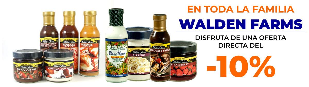 Llévate cualquier producto de Walden Farms con un descuento directo del 10 por ciento