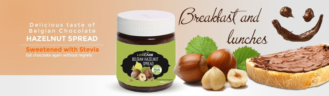 Eat again Belgian chocolate sweetened with stevia for breakfasts and lunches